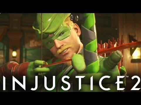 Injustice 2: GREEN ARROW GAMEPLAY!! Green Arrow Vs Harley Quinn (Injustice Gods Among Us 2)