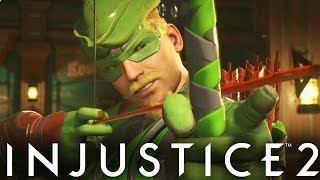 Injustice 2: GREEN ARROW GAMEPLAY!! Green Arrow Vs Harley Quinn (Injustice Gods Among Us 2)