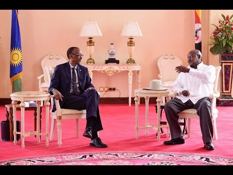 Kagame and Museveni meet at State house  Entebbe