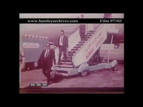 Kuwait Airport in 1965.  Archive film 97103