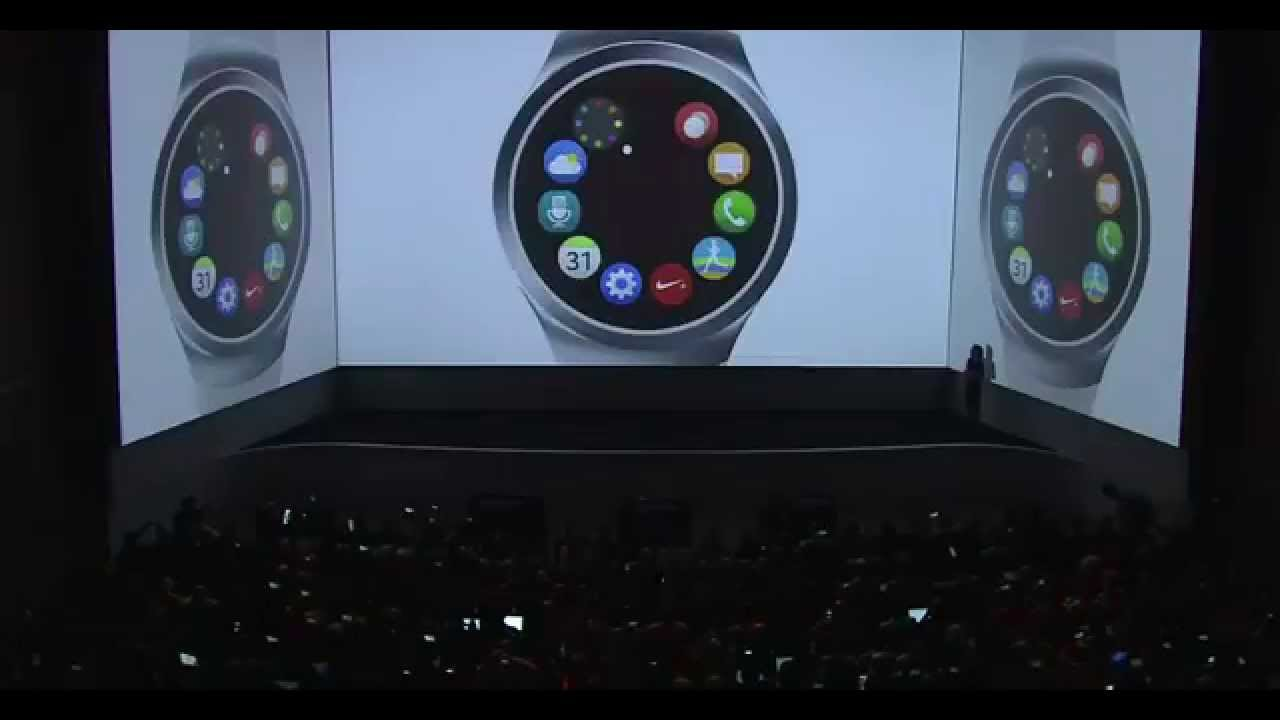 teaser samsung gear s2 montre connect e ronde galaxy unpacked 2015 event youtube. Black Bedroom Furniture Sets. Home Design Ideas