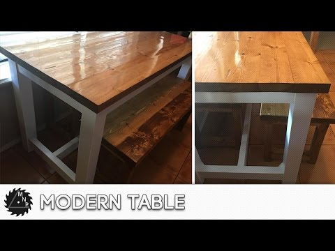 DIY Modern Kitchen Table Build