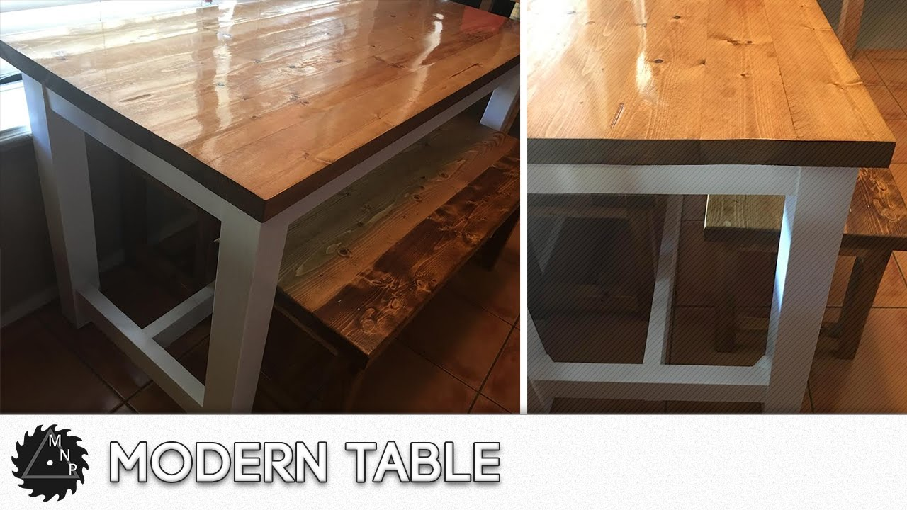 diy modern kitchen table build - youtube