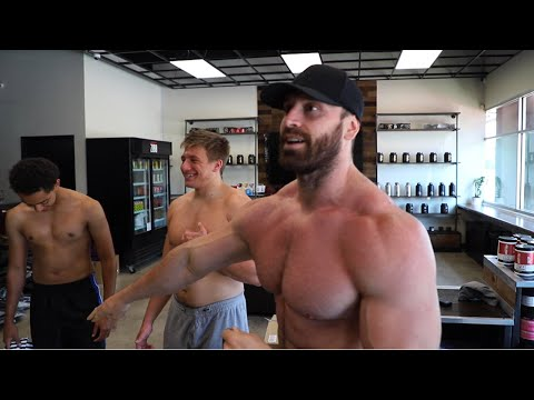 SHIRTLESS PUSH DAY WITH STEVE WILL DO IT N THE NELK BOYSS