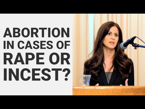 Is abortion needed in cases of rape or incest? - Lila Rose at UCLA
