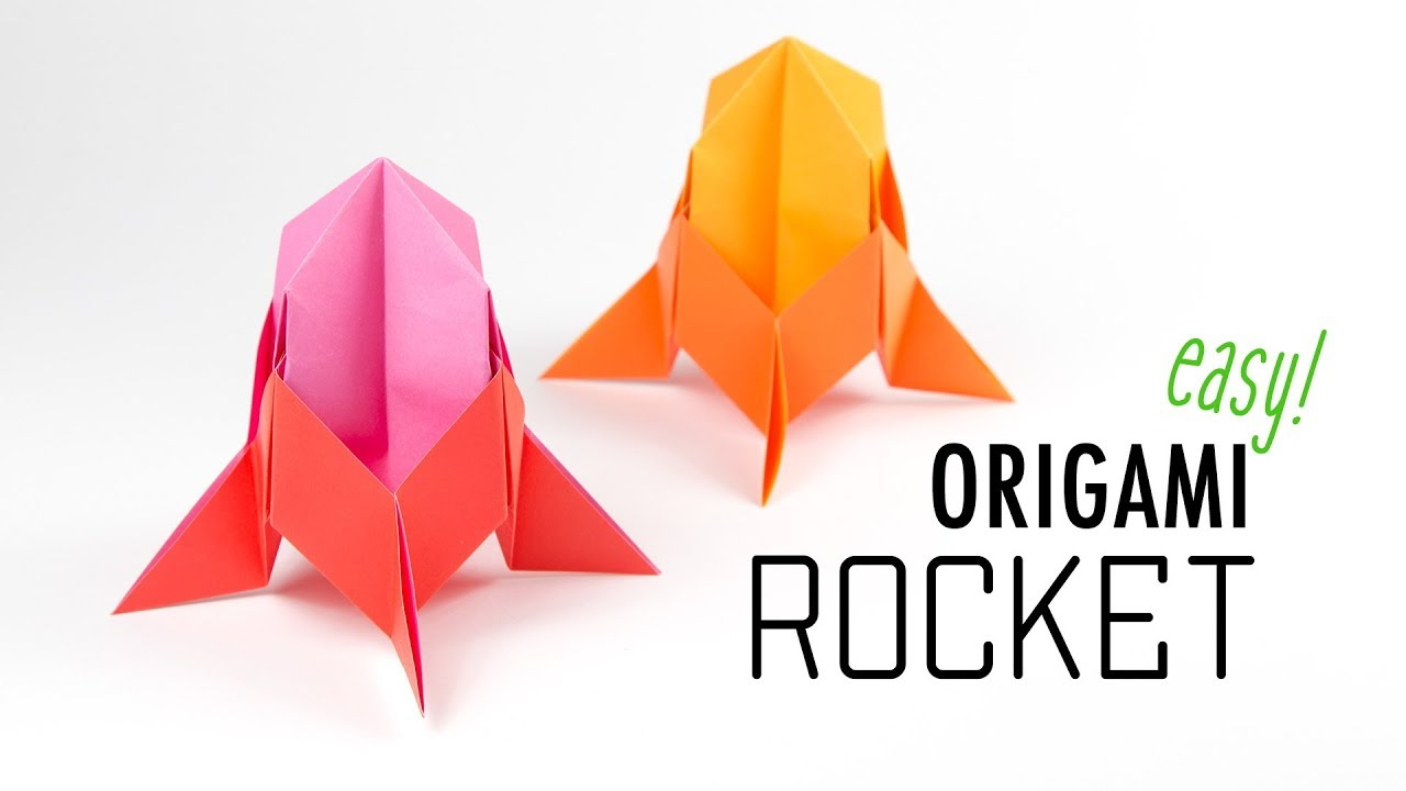 Easy Origami Rocket Spaceship Tutorial DIY Paper Kawaii