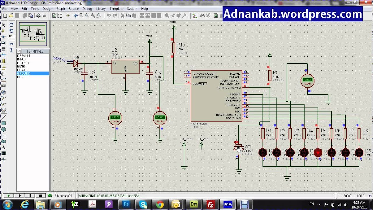 Led Chaser Youtube Circuit Diagram