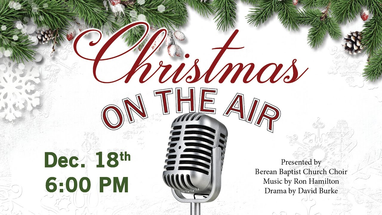 Christmas In The Air.Christmas On The Air 2016 Cantata