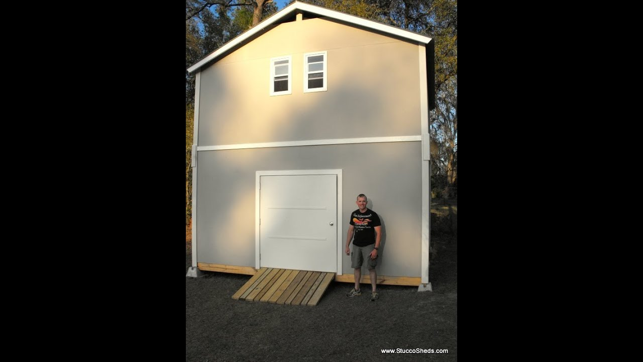 2 story shed cabin barn assembled in 1 day prefab elements for How to build a 2 story shed