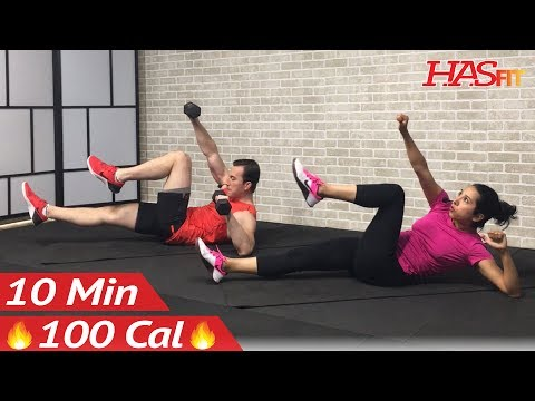 10 Minute Ab Workout with Dumbbells or No Equipment Weights – Abs Workout for Women & Men at Home