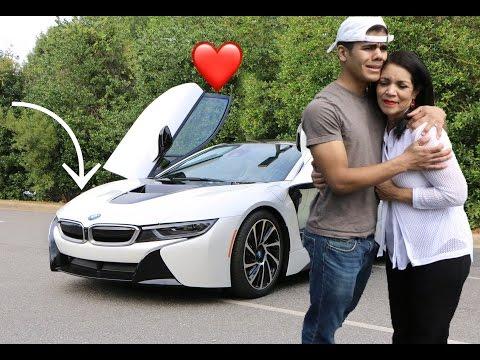 I BOUGHT MY MOM HER DREAM CAR ( **EMOTIONAL**)  ( 2017 BMW i8)   joshua suarez    000
