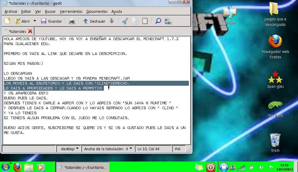 descargar minecraft para guadalinex edu 1.6.2