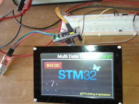 STM32F103C8T6 final test with FT810 FTDI EVE YouTube