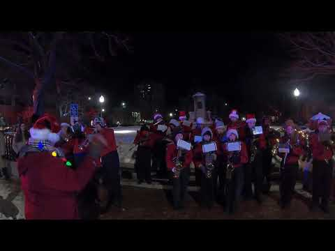 12/7/19 Fitchburg High School Marching Band - Fitchburg Upper Common Holiday Lighting ceremony