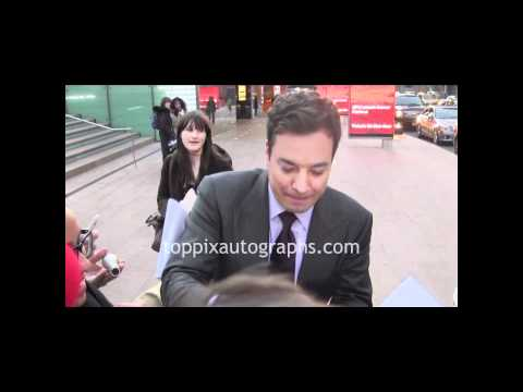 Jimmy Fallon - Signing Autographs at the Film Society of Lincoln Center in NYC