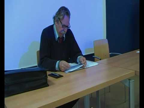 Arno Munster 1/5 : Colloque Philosophie Université...