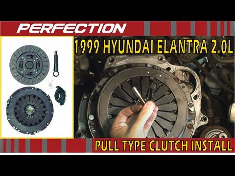Pull Type Clutch Installation - 1999 Hyundai Elantra 20L - YouTube