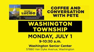 Sen. Lucido to host Coffee Hours on July 1