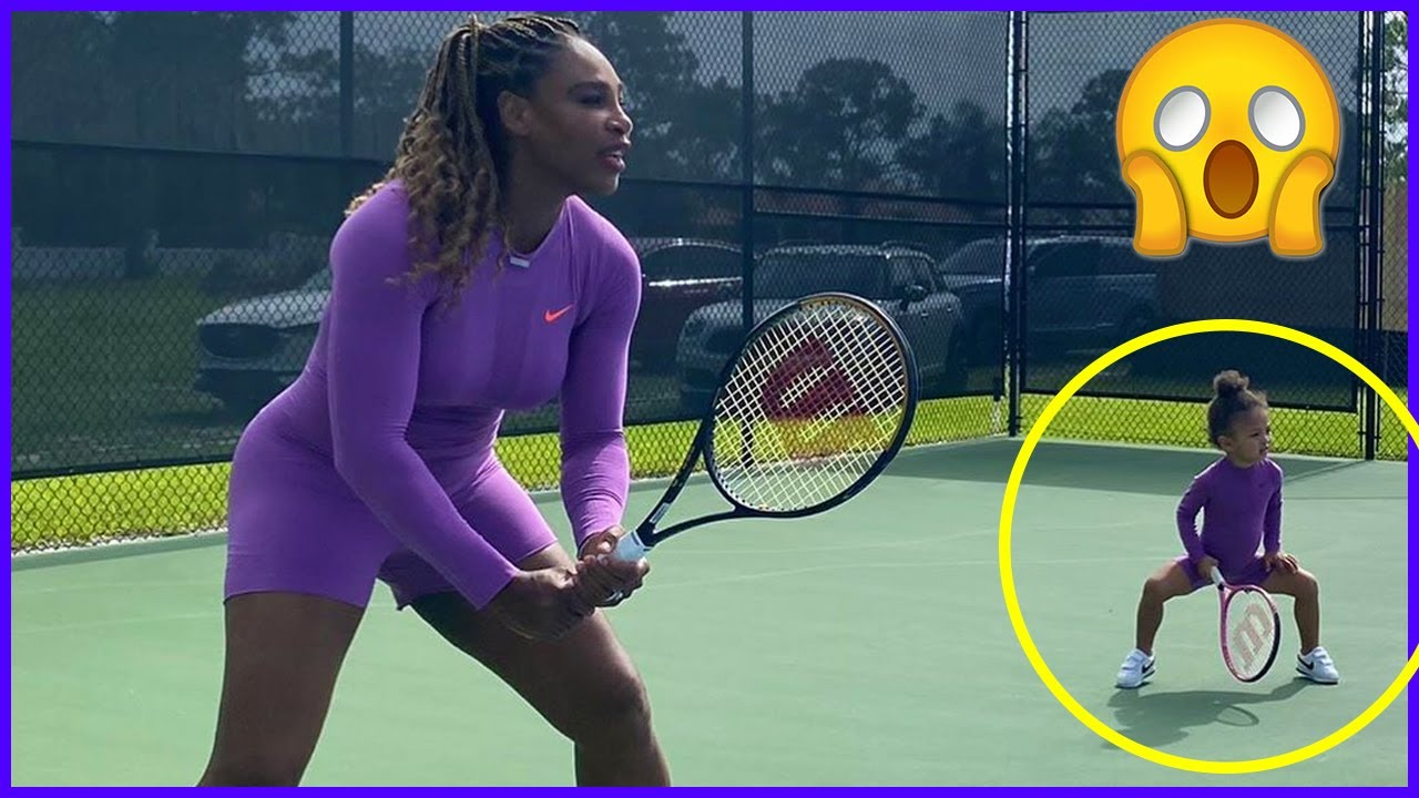 SERENA WILLIAMS STARTS PREPARATIONS WITH ALEXIS OLYMPIA OF US OPEN 2020 , INSTALLS NEW SURFACE