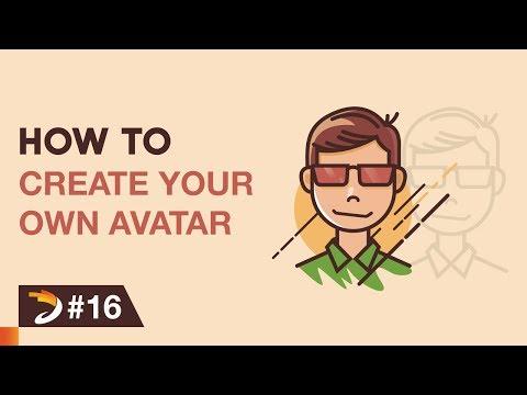 How to create an avatar like a cartoon character | Adobe Illustrator Tutorial thumbnail