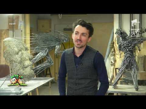 Daniel Rădulescu, un artist complex şi complet! A creat adevărate opere de artă din metale!