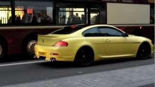 BMW M6. Bright Yellow & Tuned. Strange