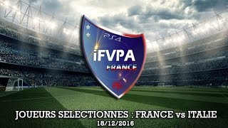 fifa17 club pro edf ifvpa ps4 joueurs slectionns match 18 12 16