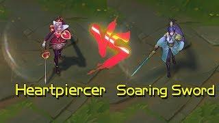 Heartpiercer Fiora vs Soaring Sword Fiora Skin Comparison (League of Legends)