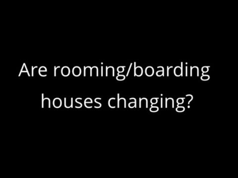 Are rooming houses changing? (Part 1) with Professor Chris Chamberlain