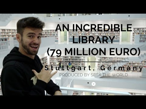 Stuttgart City Library Might Be The Most Incredible Library I've been to!