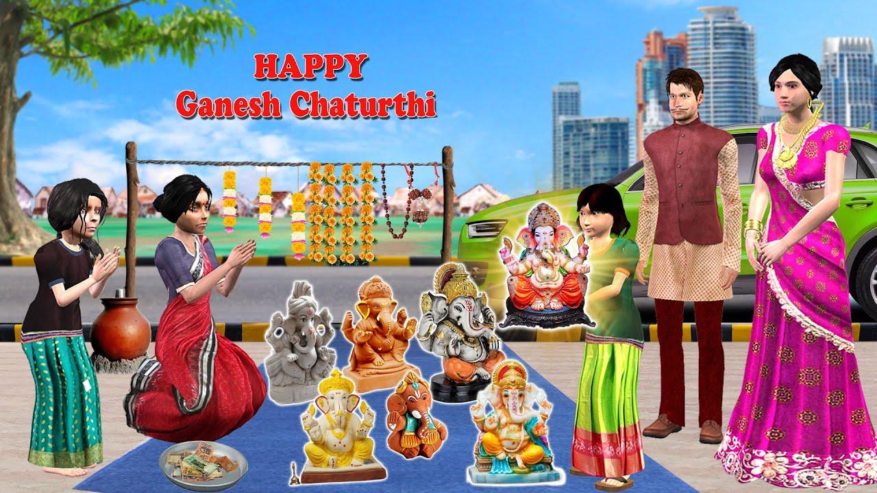 गरीब की गणेश चतुर्थी Garib Ki Ganesh Chaturthi Comedy Video हिंदी कहानिया Hindi Kahaniya Hindi Story