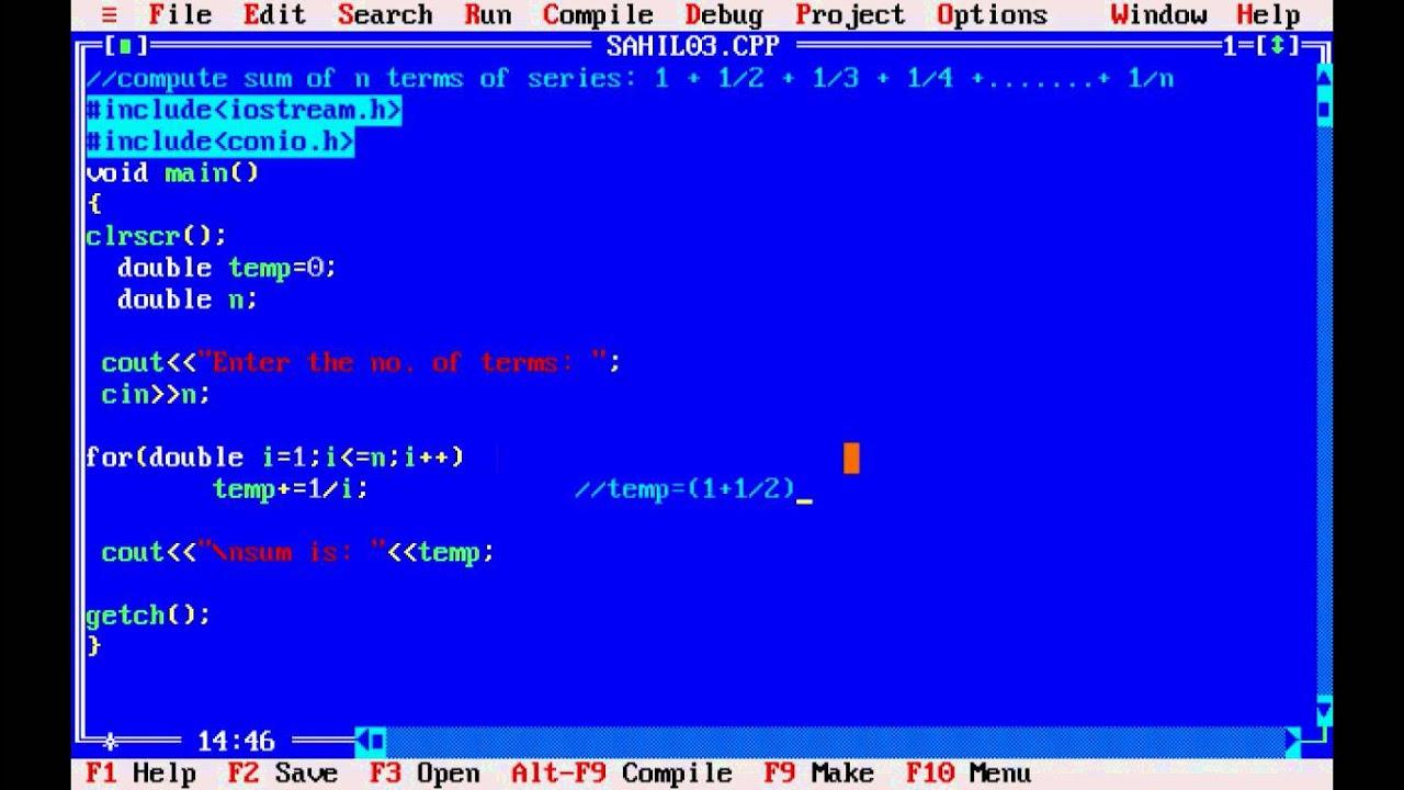C++ program to find sum of series 1+1/2^2+1/3^3+…..+1/n^n