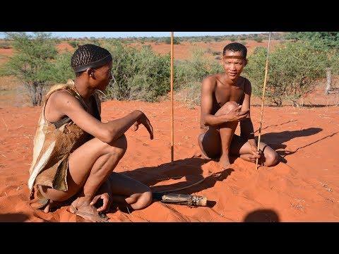 Bushman of the Namibian Kalahari