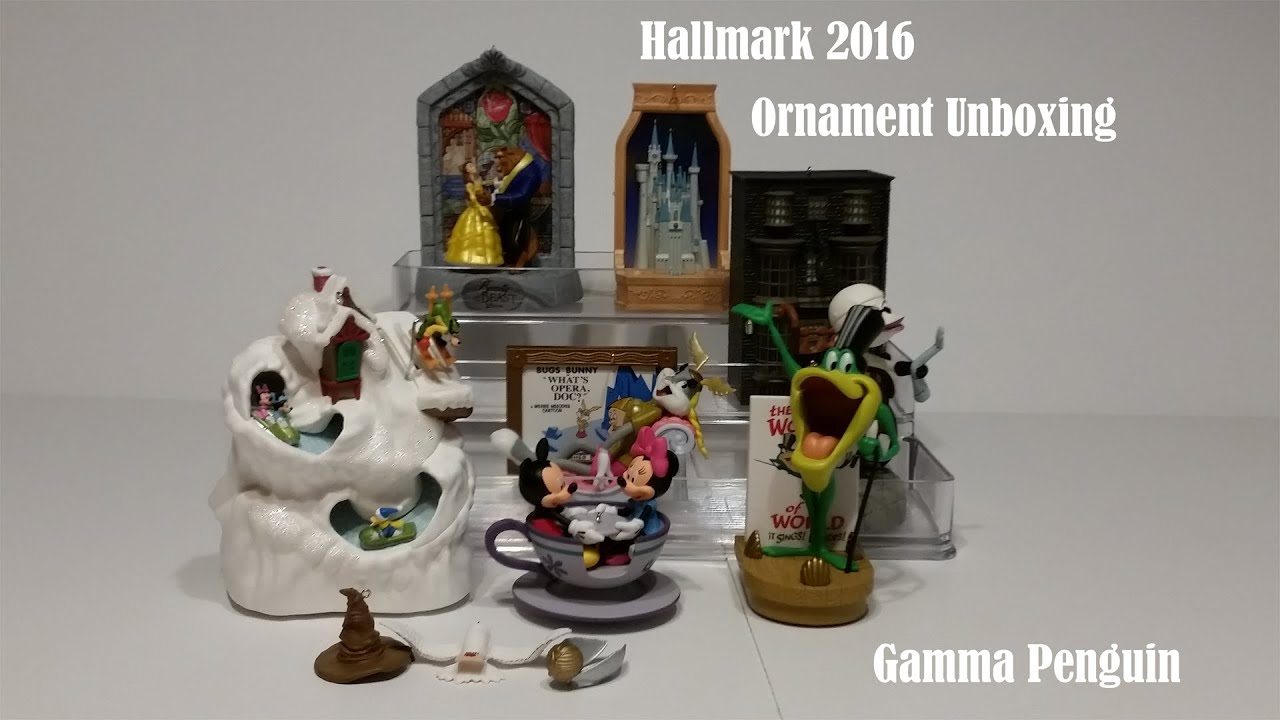Hallmark 2016 Ornaments Unboxing Looney Tunes Harry Potter