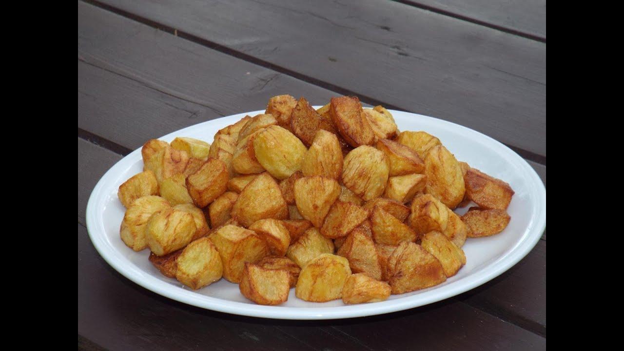 картошка жареная с луком в казане