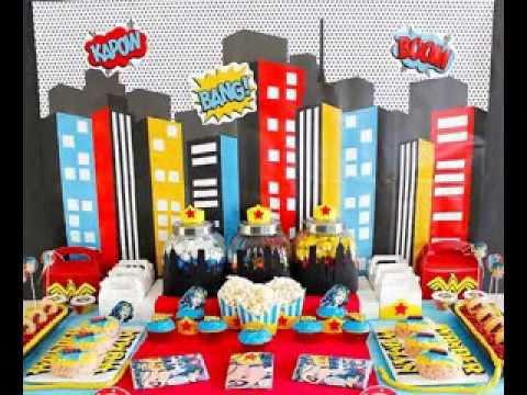 Superhero party decorating ideas youtube