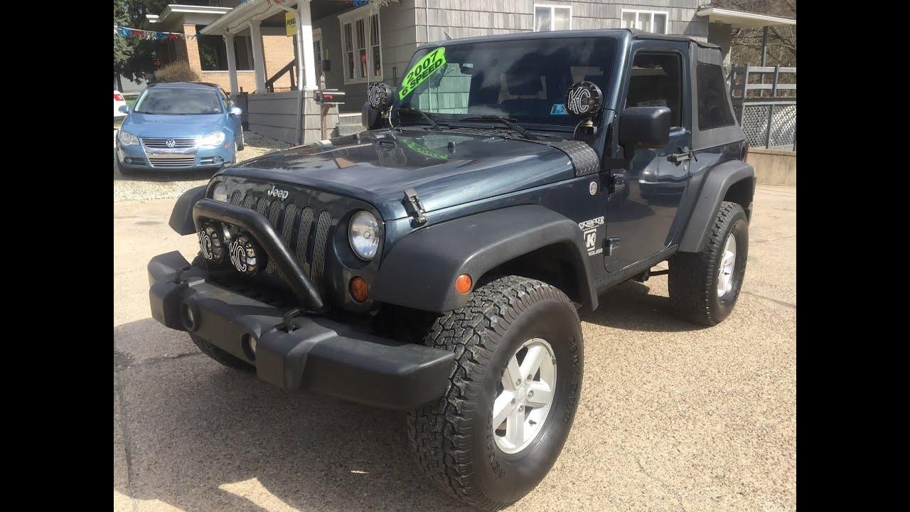 2007 jeep wrangler x lifted 6 speed 4x4 elite auto outlet