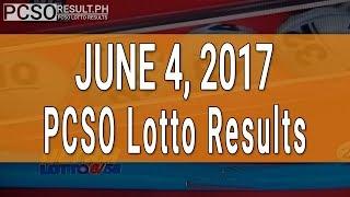 Lotto Result June 4, 2017 (6/58, 6/49, Swertres & EZ2)