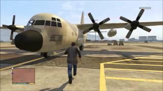 【日本版】GTA5 軍事基地からC-130(輸送機)がどうしても欲しい!!(字幕実況)