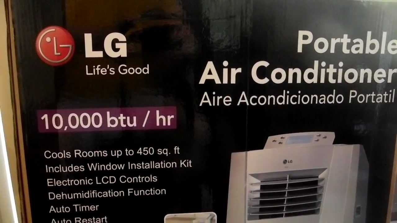 Lg portable air conditioner model lp1010snr 10000 btu youtube fandeluxe Image collections