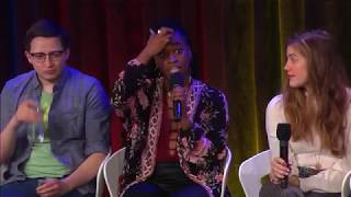 every time will roland takes a sip of water during the talks with google interview