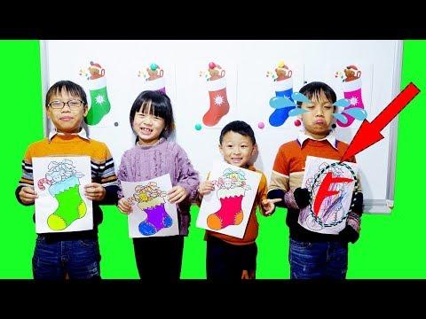 Hunter Kids Go To School Learn Colors Glitter Christmas socks   Classroom Funny Nursery Rhymes