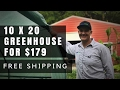 10x20 GreenHouse for $179 (Free Shipping) + Only 10 Minutes to Assemble!