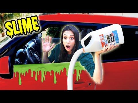 SLIJM PROBEREN TE MAKEN IN DE AUTO  Slime Sunday