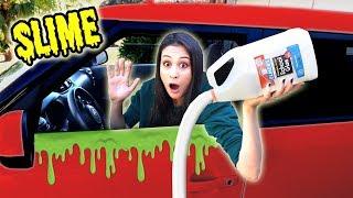 SLIJM PROBEREN TE MAKEN IN DE AUTO! || Slime Sunday