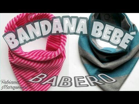 C�mo hacer BANDANA o BABERO para beb� - Fabiana Marquesini -35