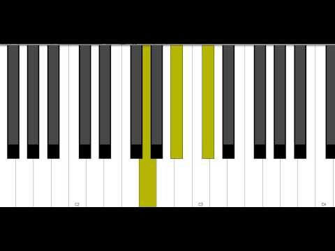 G Diminished Piano Chord - YouTube