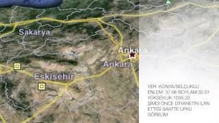 Konya'da SABAH NAMAZI (İmsak) Gözlemi