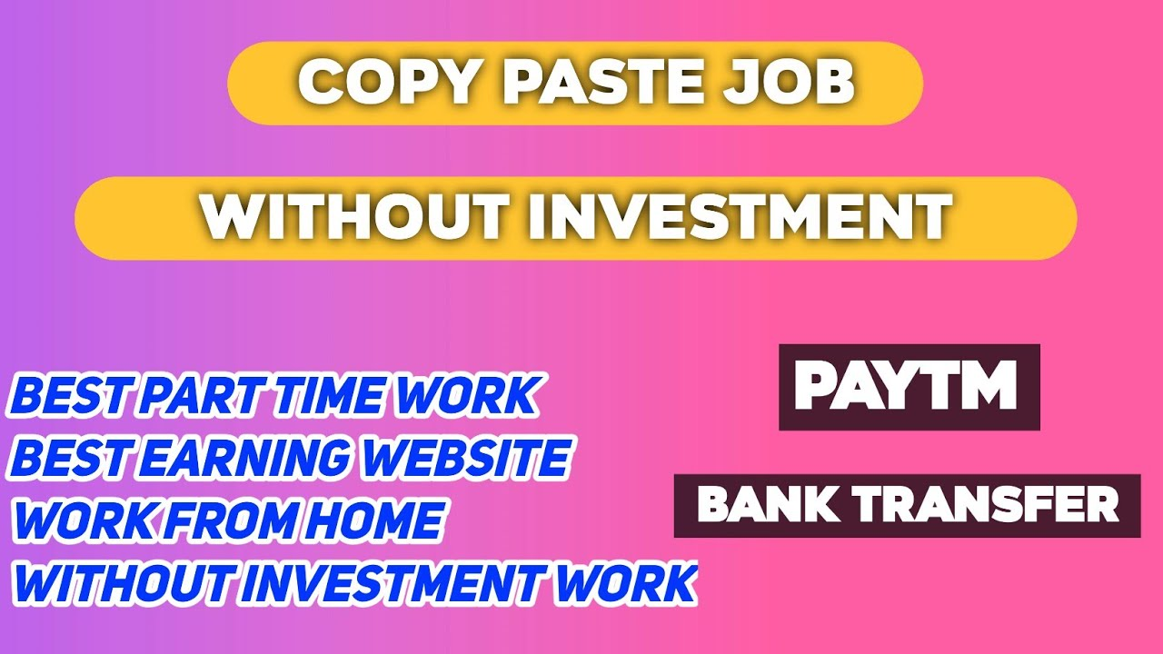 Best Copy Paste Job🔥Online Part Time Job| Work From Home| No Investment |Free Rs.500 #MoneyEarnings