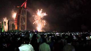 Burj Al Arab - New Year Fireworks 2015
